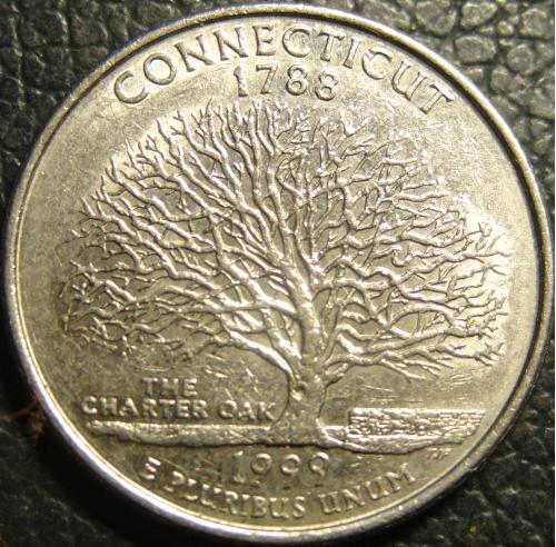25 центів 1999 D США Коннектікут