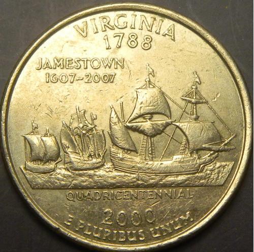 25 центів 2000 P США Вірджинія