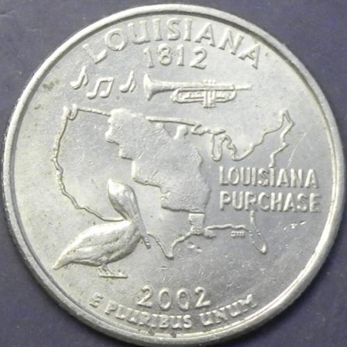 25 центів 2002 P США Луїзіана