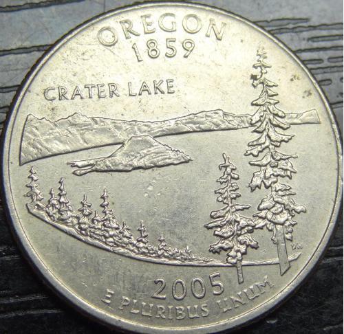 25 центів 2005 P США Орегон