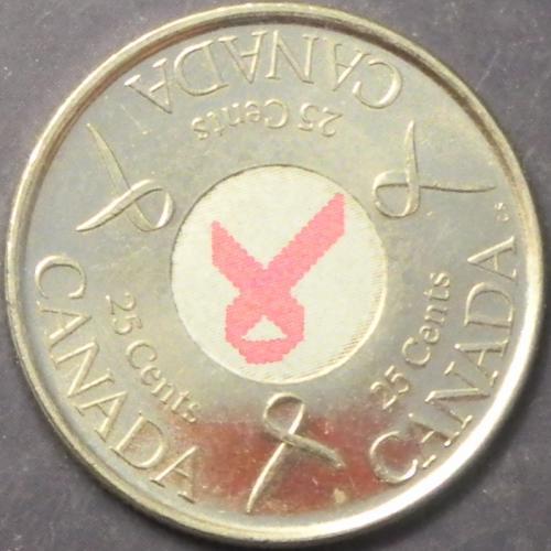 25 центів 2006 Канада Боротьба з раком молочної залози