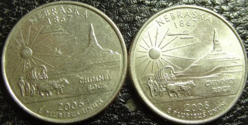 25 центів 2006 США Небраска (два різновиди)