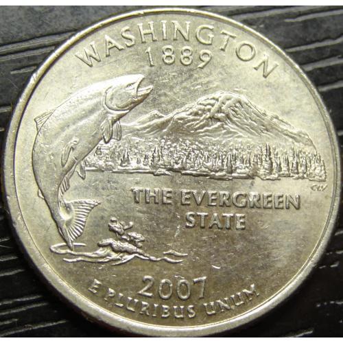 25 центів 2007 P США Вашингтон