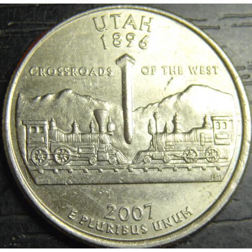 25 центів 2007 P США Юта