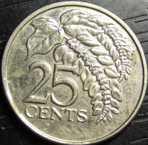 25 центів 2012 Тринідад і Тобаго