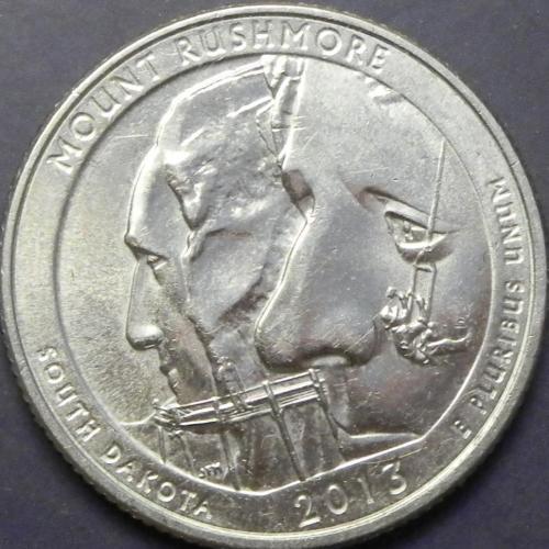 25 центів 2013 D США Маунт Рашмор