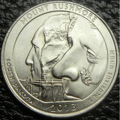 25 центів 2013 P США гора Рашмор