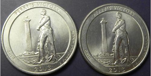 25 центів 2013 США Перемога Перрі (два різновиди)