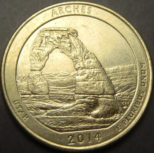25 центів 2014 D США  Арки