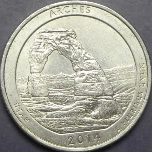 25 центів 2014 P США Арки