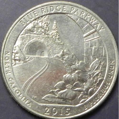 25 центів 2015 D США Блу Рідж