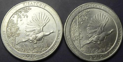 25 центів 2015 США Кісатчі (два різновиди)