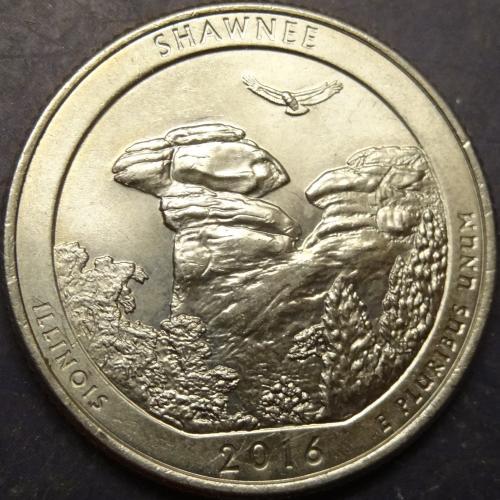 25 центів 2016 P США Шоні