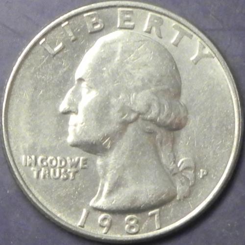 25 центів США 1987 P