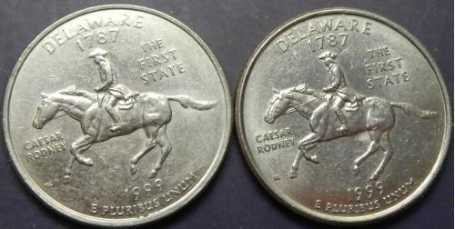 25 центів США 1999 Делавер (два різновиди)