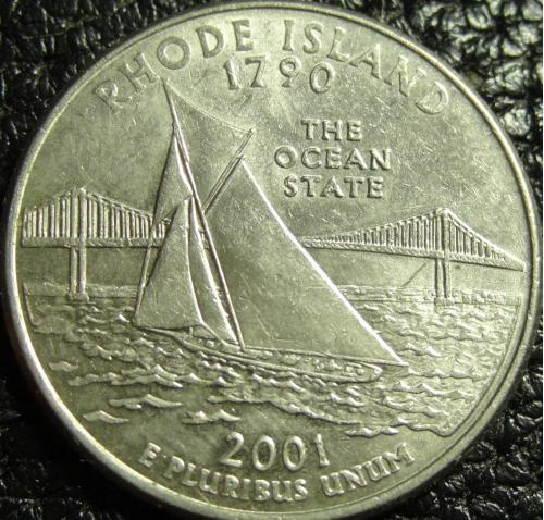25 центів США 2001 D  Род Айленд