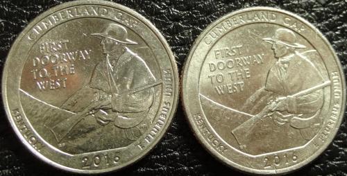 25 центів США 2016 Камберленд-Геп (два різновиди)