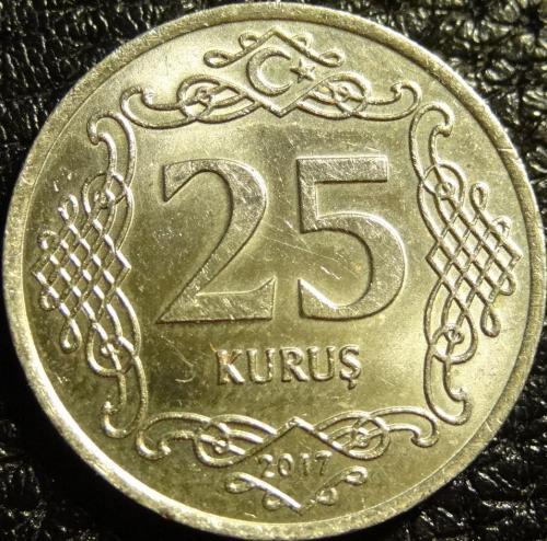25 курушів 2017 Туреччина