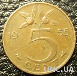 5 центів 1955 Нідерланди
