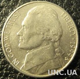 5 центів 1999 D США
