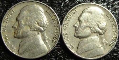5 центів 1962 США (два різновиди)
