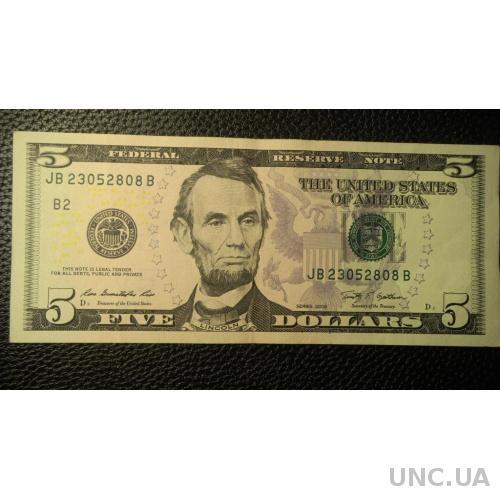 5 доларів 2009 США