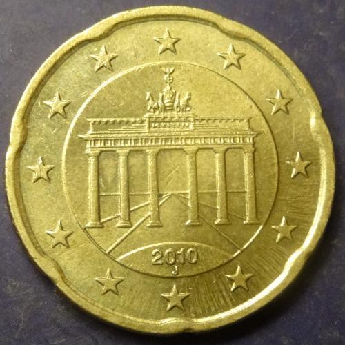 20 євроцентів 2010 J Німеччина