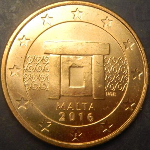 5 євроцентів 2016 Мальта UNC рідкісна