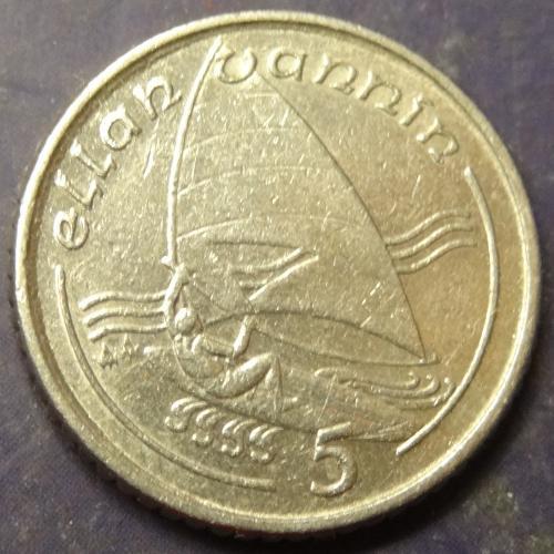 5 пенсів 1990 AA Мен