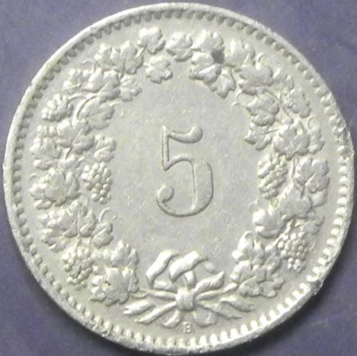 5 рапенів 1962 B Швейцарія