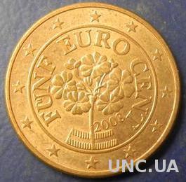 5 євроцентів 2008 Австрія