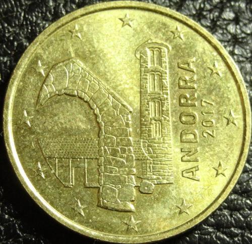 50 євроцентів 2017 Андорра рідкісна