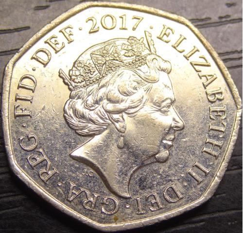 50 пенсів 2017 Британія