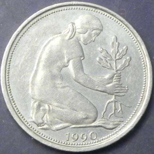 50 пфенігів 1990 F ФРН