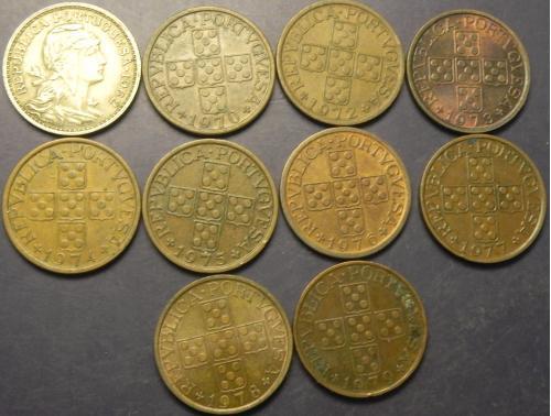 50 сентаво Португалія (порічниця), 10шт, всі різні