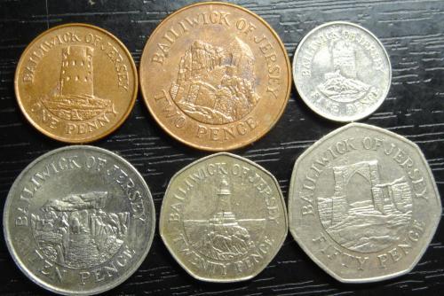 Комплект монет Джерсі 2006 (рідкісні)