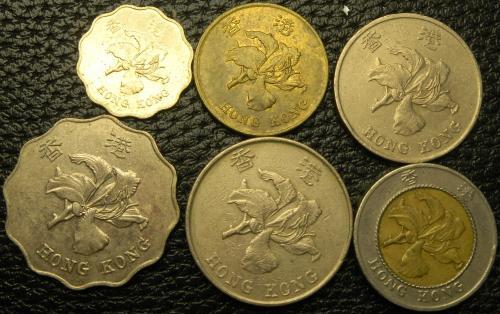 Комплект монет Гонконгу
