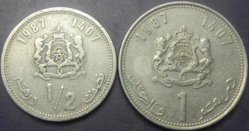 Монети Марокко 1987 (Король Хасан II)
