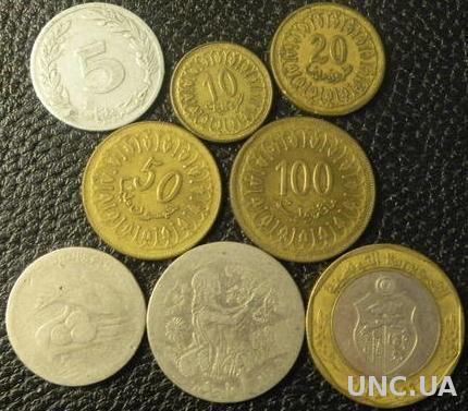 Комплект монет Тунісу