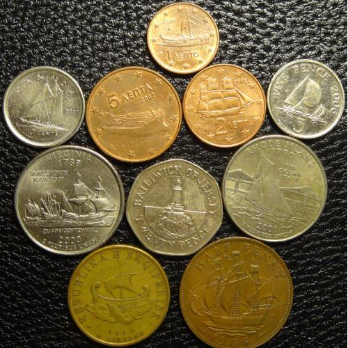Кораблики в монетах