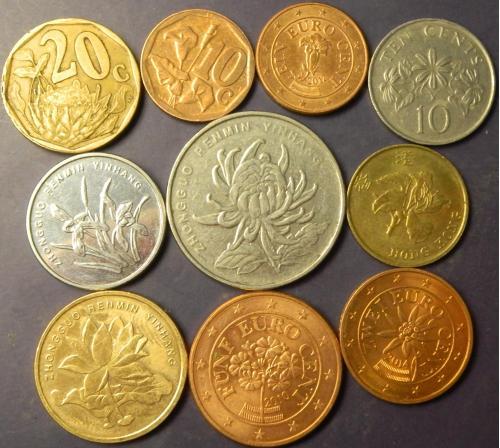 Квіти в монетах