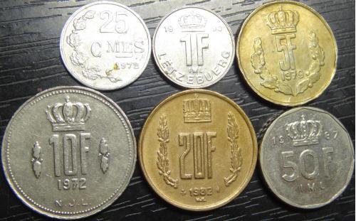 Комплект монет Люксембургу (до євро)