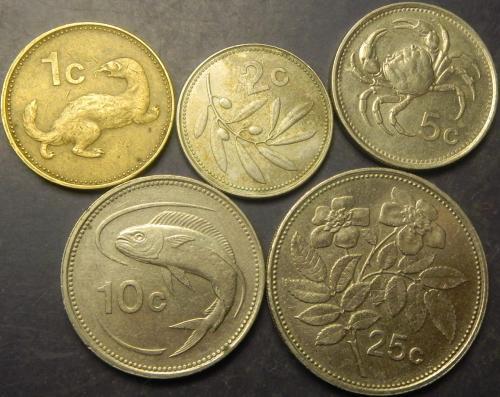 Комплект монет Мальти (до євро)