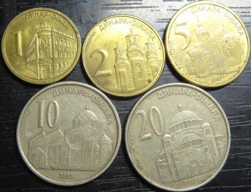 Комплект монет Сербії