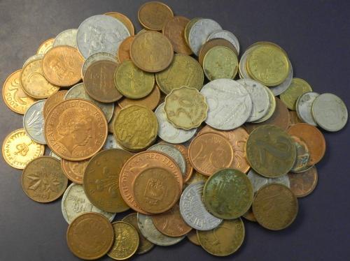 Стартовий комплект монет світу 100шт (36 країн), без повторів
