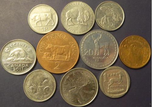 Тварини в монетах