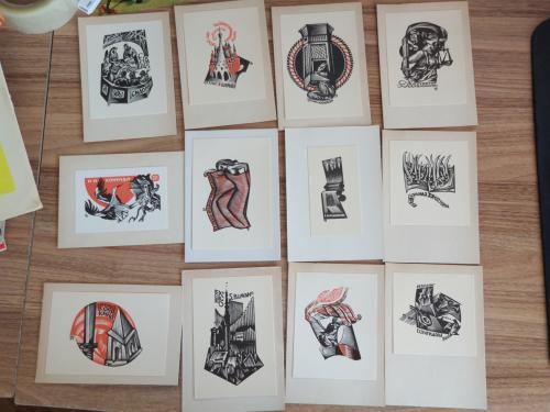 Экслибрис Книжные знаки КАЛАШНИКОВА 1968 Ex Libris
