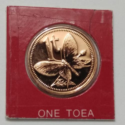 Папуа Новая Гвинея 1 тоя 1978 (f) special UNC тираж 777 штук, из набора