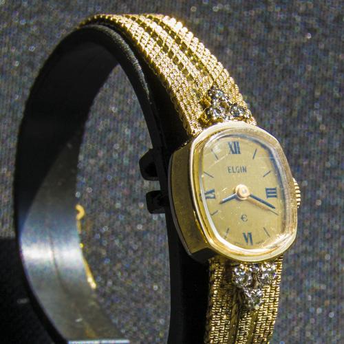 Винтажные часы с бриллиантами Elgin.Механика.
