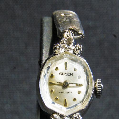 Винтажные часы с бриллиантами Gruen.Механика.